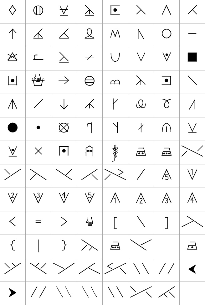 Knitting Chart Symbols Font : Best images about font on pinterest behance type