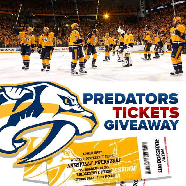 I entered to win tickets to the Predators Game! Enter to win your tickets here!