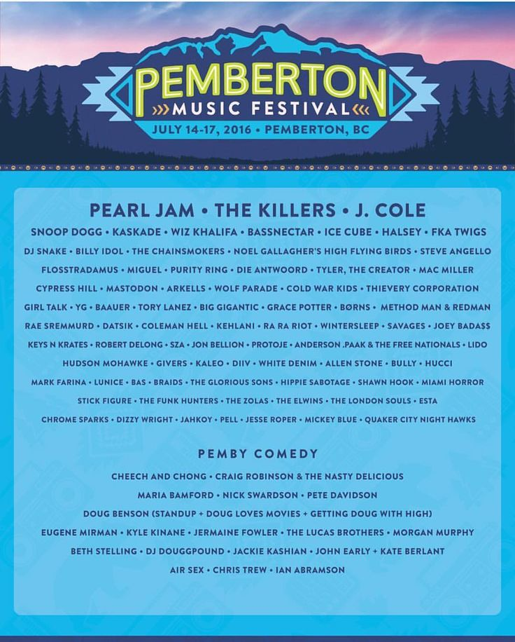 "MusicFests365 on Instagram: ""Pemberton Music and Camping Festival in BC !  #Pemberton #musicfestival #music #lineup #pembertonmusicfestival #bc #canada #festival #edm #bassnectar #kaskade"""
