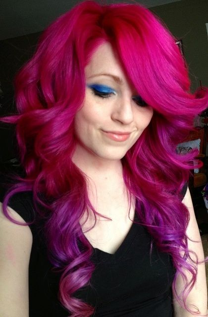 hair, hair color, pink hair, purple hair, pink purple, tips, Ursula Goff by savvy