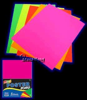 "B5027 - Blacklight Reactive Poster Board - 11"" x 14"" - 5 sheet Pack"