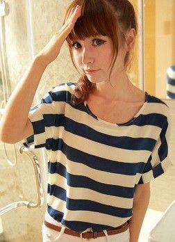 Camisa Dama da Moda - Manga Curta (L) - Frete Grátis