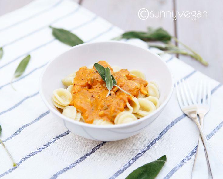 pumpkin and sage pasta #vegan
