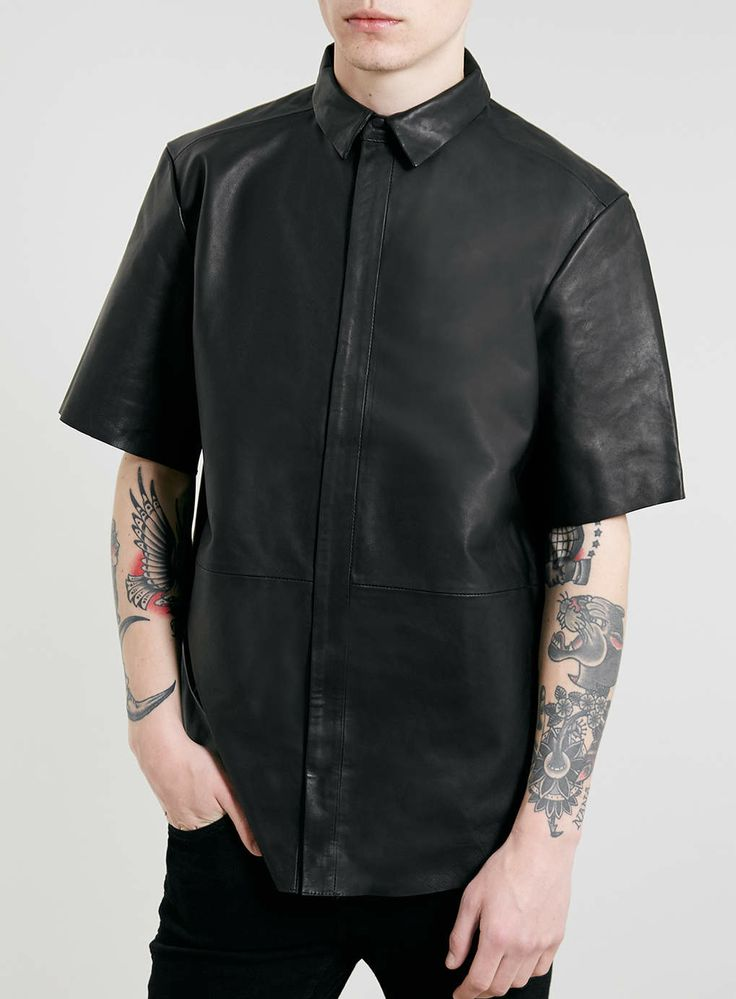 Selected Homme leather shirt £220 http://tpmn.co/1jxNJPW