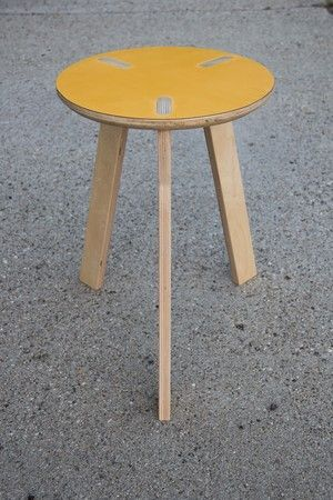 Baltic Birch plywood stool with laminated formica top