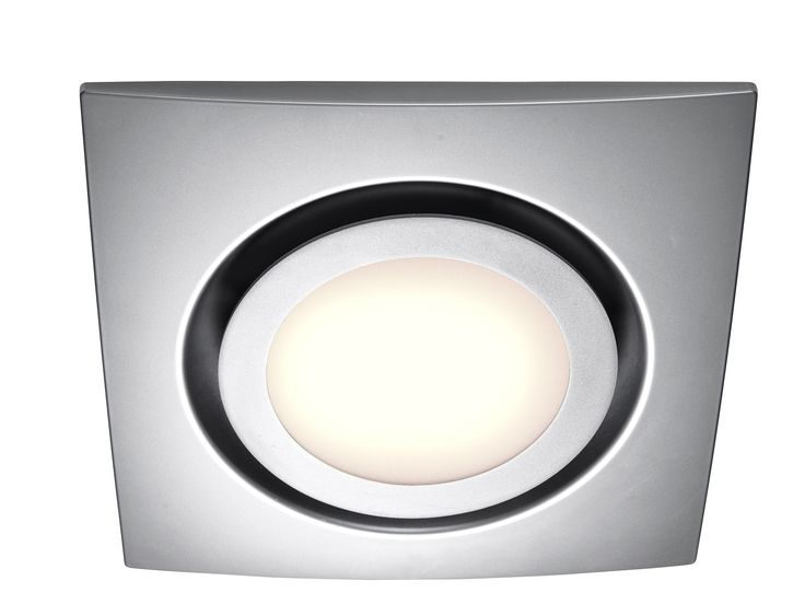 Silver Exhaust fan with LED Light