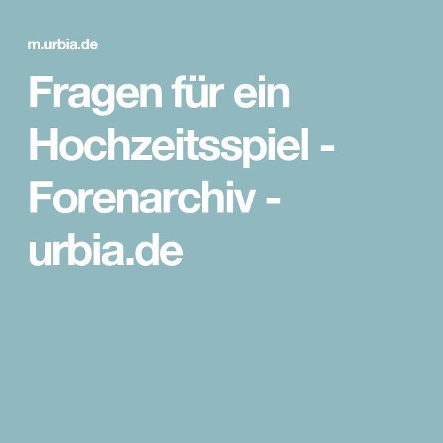 Fragen für ein Hochzeitsspiel - Forenarchiv - urbia.de