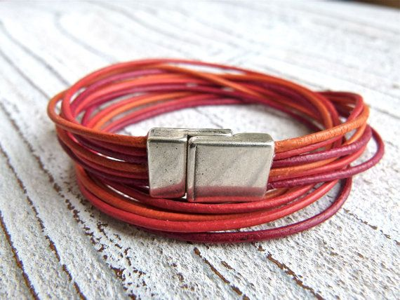 Hey, I found this really awesome Etsy listing at https://www.etsy.com/listing/125579234/leather-bracelet-with-magnetic-closure