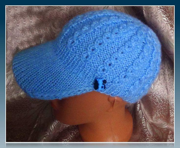 Кепочка спицами.Knitting caps
