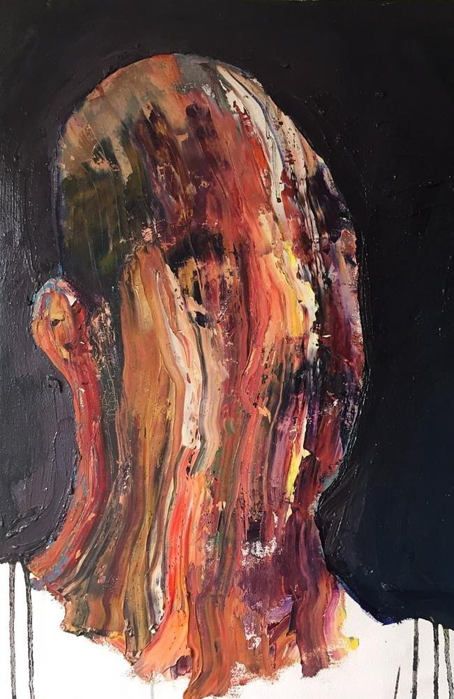 Dark and haunting ... a painting by Bali Nine ringleader, Myuran Sukumaran. Picture: Supp