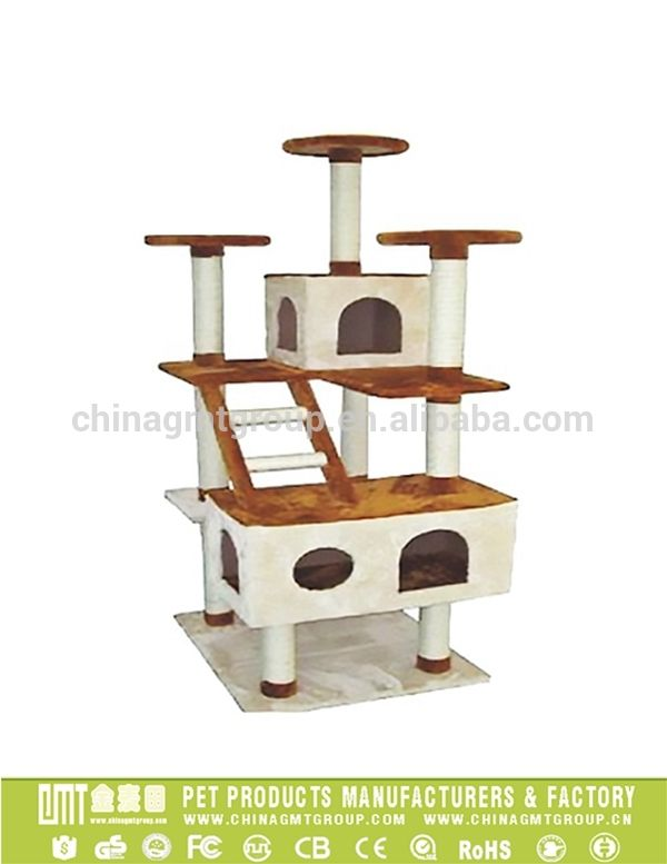GMT8143 high quatily large scratching post cat tree house cat play tower