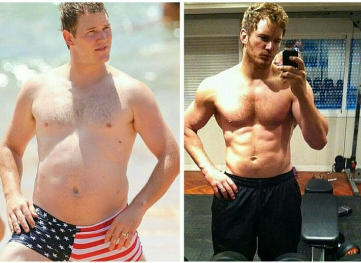 Chris Pratt Before and after working out