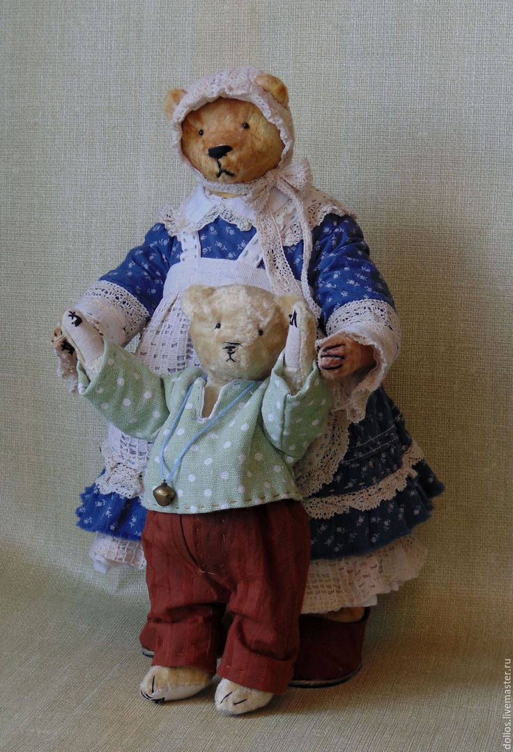 Купить Мамин сыночек - коричневый, мишка, тедди, деревня мишкино, винтаж, коллекционные медведи