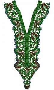 Delightful Arabian Long Neck Embroidery Design 15448