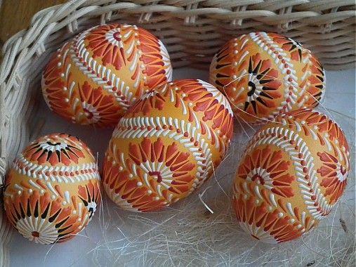 jarkakon / maľované oranžové kraslice