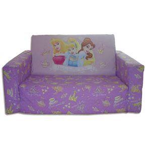 Barnmöbler - Disney - Disney Prinsessor Soffa - Lila