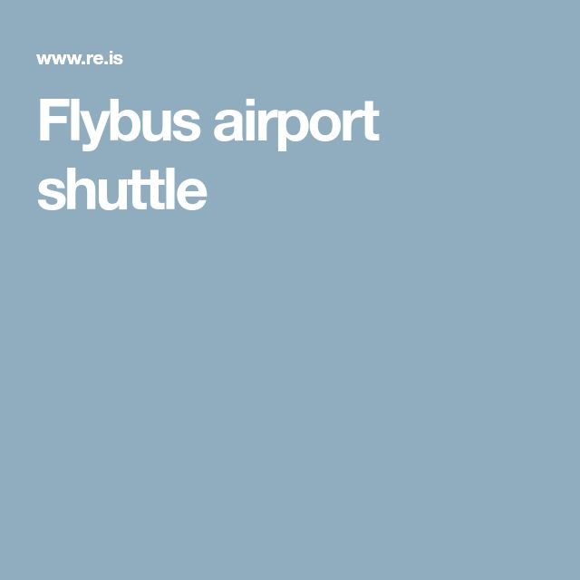 Flybus airport shuttle