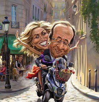 Hollande Julie et vespa