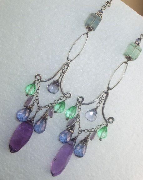 chandelier earrings by doolittlejewelry on etsy