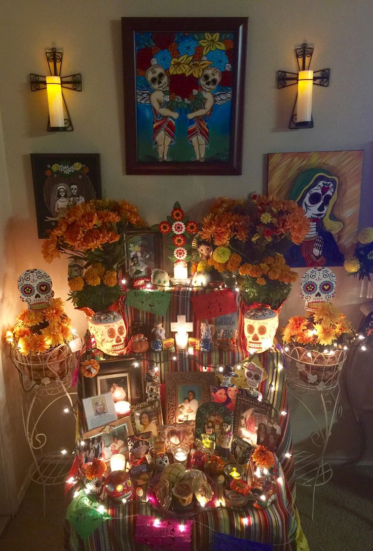 My Home Altar For Dia De Los Muertos 2017 In 2019 Home