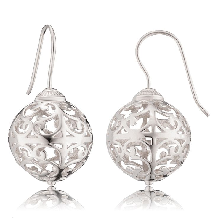 Engelsrufer drop earrings silver -  $112.00 Click to open. Earrings made of rhodium plated 925 sterling silver. Rhodium plating is an excellent surface finish,