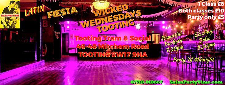 #SALSA #BACHATA #LONDON #TOOTING 📌We're BACK TONIGHT 24th Jan! ❤️Wicked #Wednesdays #Latin #Fiesta ★7.30pm Beautiful Bachata Levels: 1(John Lets Salsa Hylton) 2(Natalie J Watterson) ✔️ ★8.30pm Sizzling Salsa Levels: 1(Natalie J Watterson) 2(PaL Chohan) 3(Laith Sami)✔️ ★Party 'til Midnight (DJ Joe Blaq)✔️ Tooting Tram & Social, 46-48 Mitcham Road SW17 9NA
