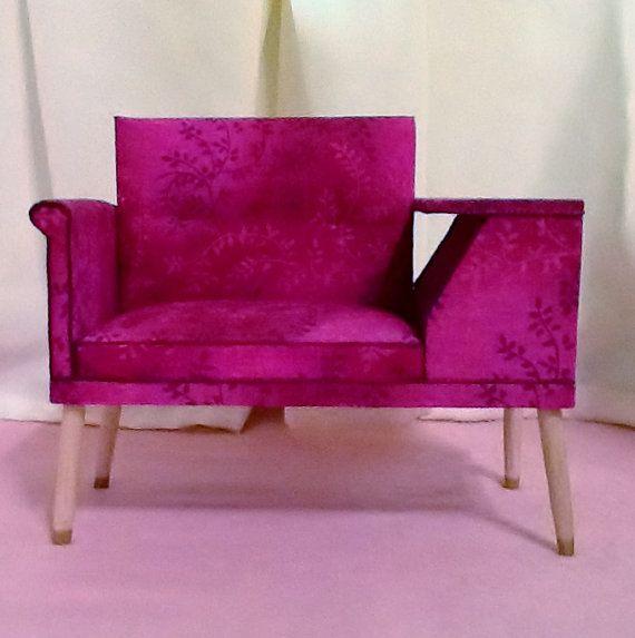 Mid Century Gossip Bench for Barbie Blythe by insidemydollhouse, $40.00