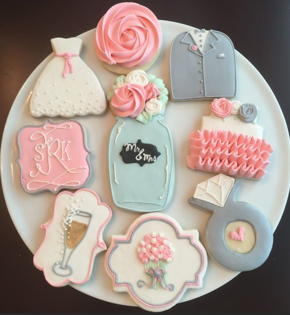 ____________________________    SHABBY CHIC WEDDING SHOWER COOKIES  ____________________________    These adorable cookies make a great dessert or favor for a wedding or bridal shower!    You will receive one dozen (12) cookies, in the styles pictured.    ____________________________    ABOUT MY COOKIES  ____________________________    My cookies are always baked fresh, never frozen! Made from quality ingredients, I promise you they are delicious! Cookies are vanilla-almond flavored sugar…