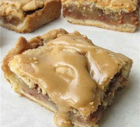 Apple Slab - apple pie baked in a 9x13 pan with apple cider glaze