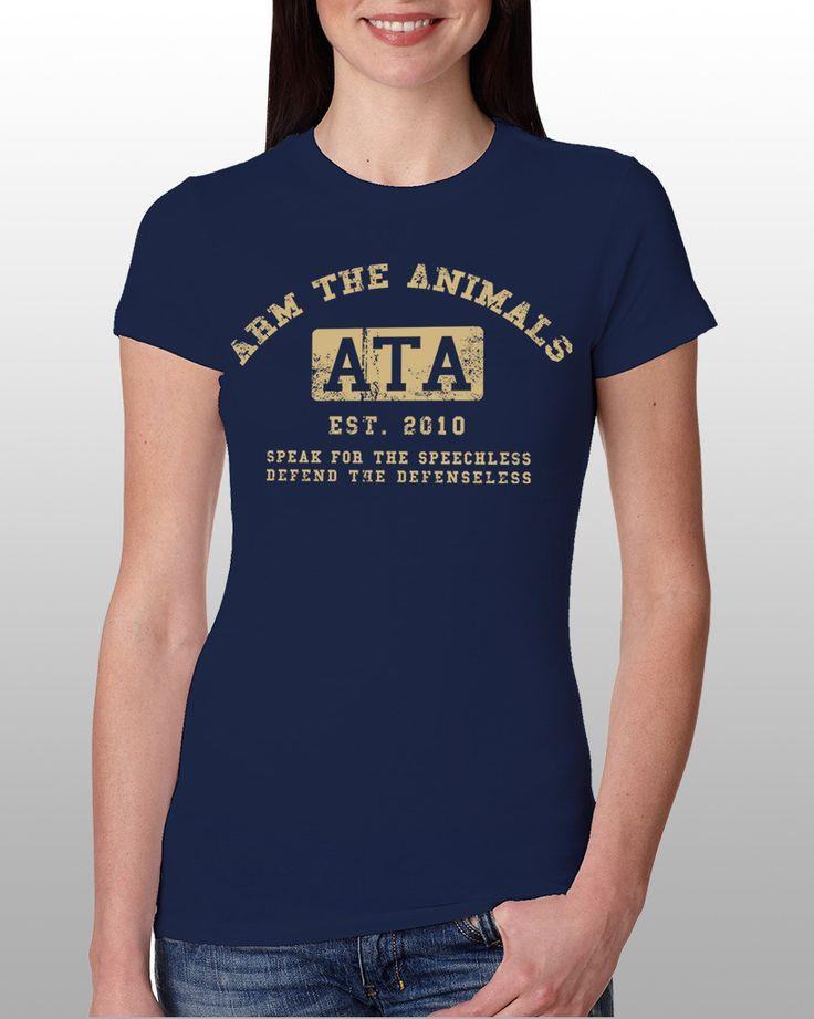 Women's | ATA College Logo | Fashion Crew Arm The Animals Clothing #armtheanimals www.armtheanimals.com