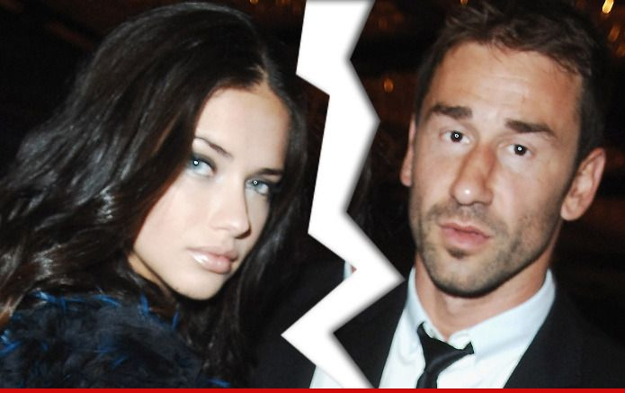 Adriana Lima & her husband split ... sorry, ladies, the dating pool just got really, really crowded.
