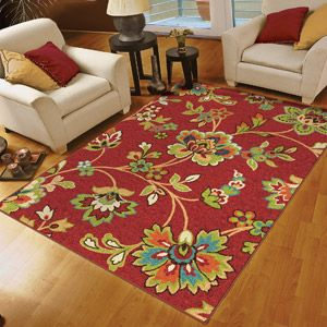 Orian Walters Woven Olefin Area Rug, Red Walmart $30 Part 45