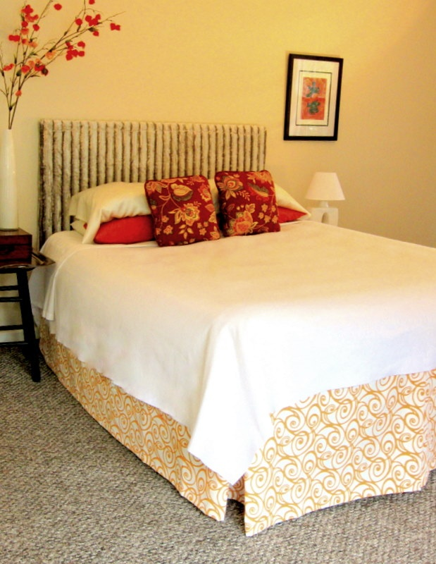 Tutorial for diy no sew faux bed skirt it 39 s just an air - How to make a bed headboard ...