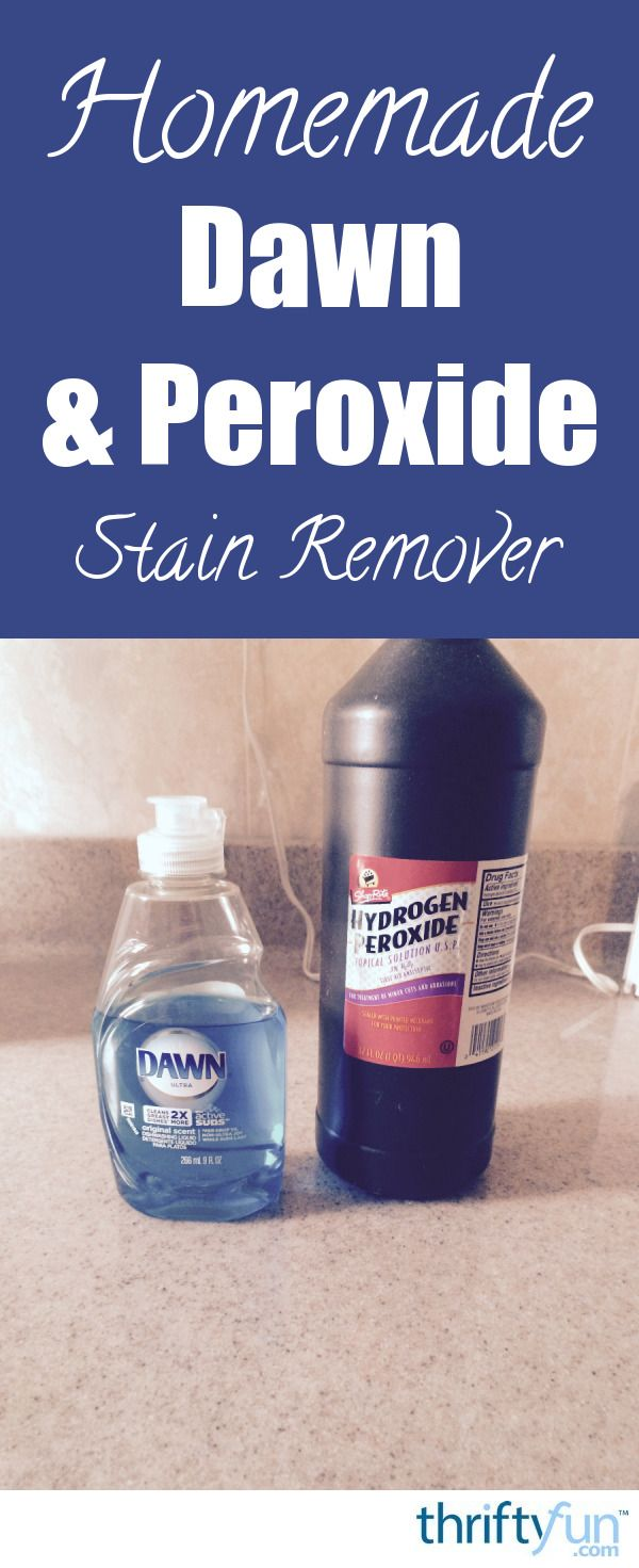 These two ingredients combine to make a very effective stain remover. This is a guide about Dawn and peroxide homemade stain remover.