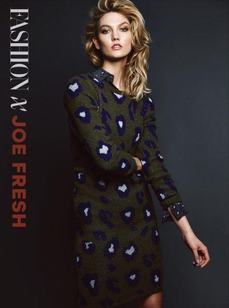 Karlie Kloss embraces print in Joe Fresh dress
