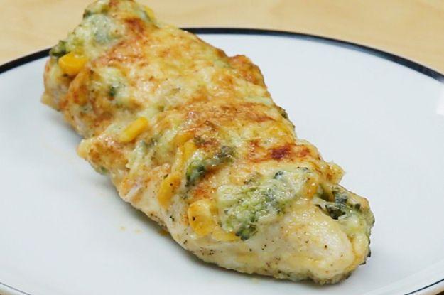 Aprenda a fazer o frango recheado com brócolis. | Esse frango recheado será seu próximo jantar!