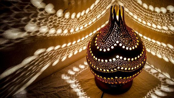 CHRISTMAS GIFT IDEAS Gourd lamp art deco Ottoman Turkish