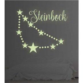 Sternzeichen Steinbock leuchtend