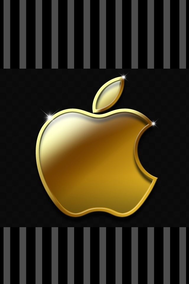 Golden Apple Wallpaper Background Ipod Backgrounds Wallpapers