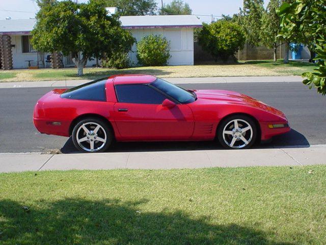 C4 Corvette On Red C4 Corvette Forum