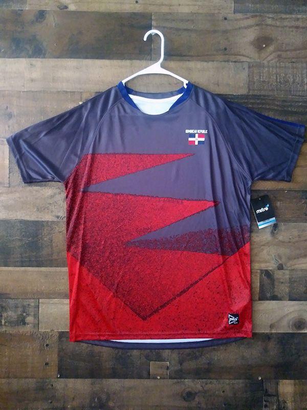 2952e661c New Unworn Mitre FIFA DOMINICAN REPUBLIC NATIONAL FOOTBALL Soccer Jersey  (M) Team Shirts,