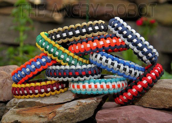 550 Paracord Survival Bracelet Sports Team Inspired Colors