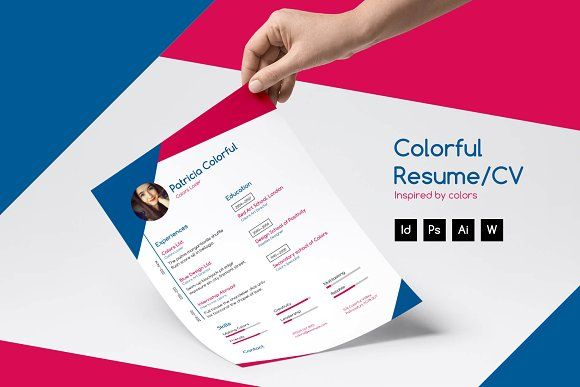 Colorful Resume/CV by Ales Me on @creativemarket