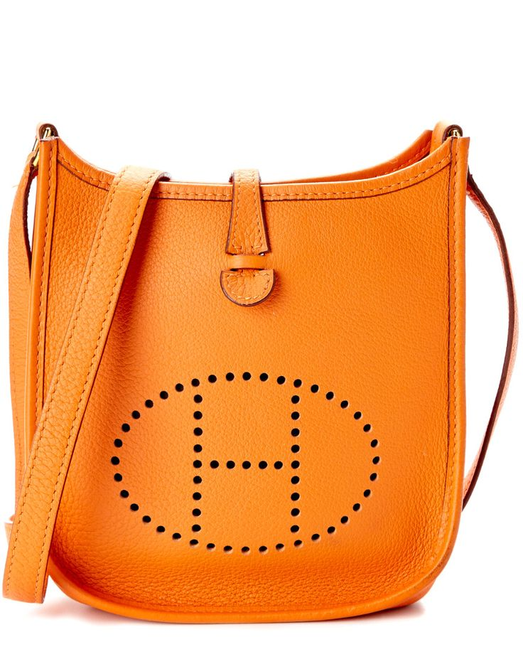 Hermes Orange Clemence Leather Evelyne I TPM is on Rue. Shop it now.