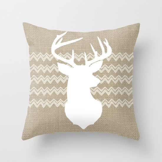 Tribal Linen with Chevron // Stag