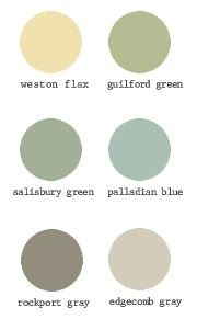 Benjamin Moore historical collections--I am in love with the color palette for the interior