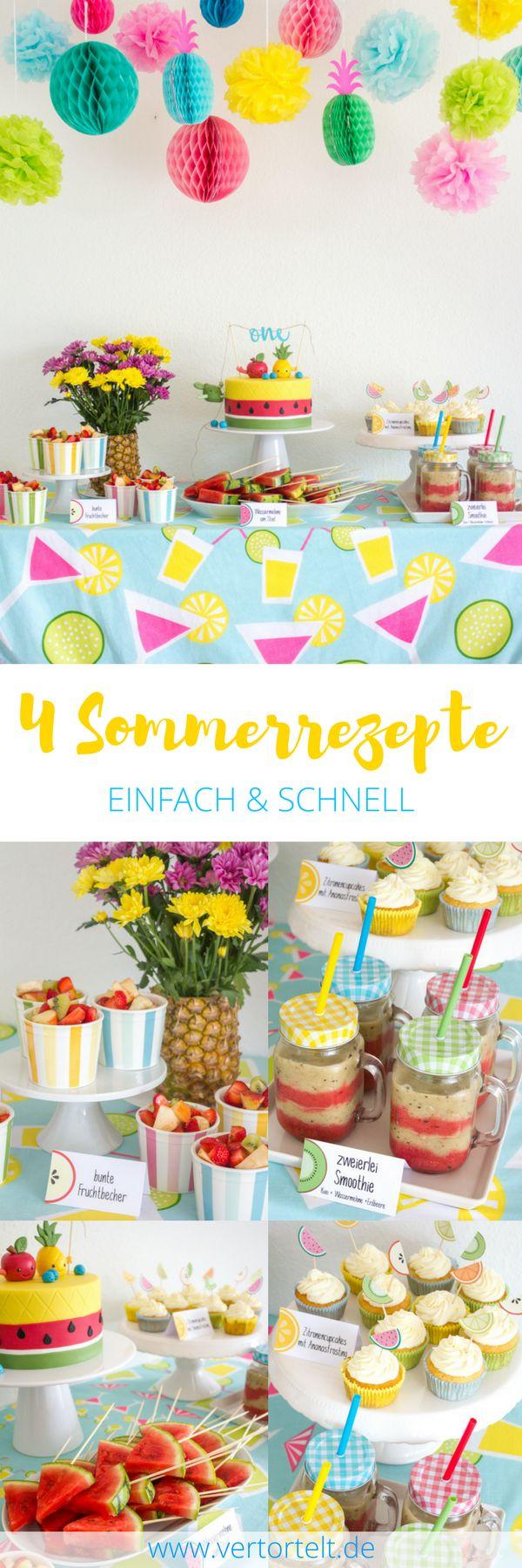 Tutti Frutti Geburtstagsparty - lecker fruchtige Rezepte für den Sommer mit Wassermelone, Ananas & Co