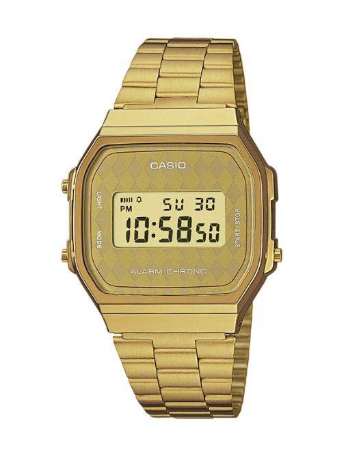 WANT. Casio Collection Herren-Armbanduhr Digital Quarz A168WG-9BWEF.
