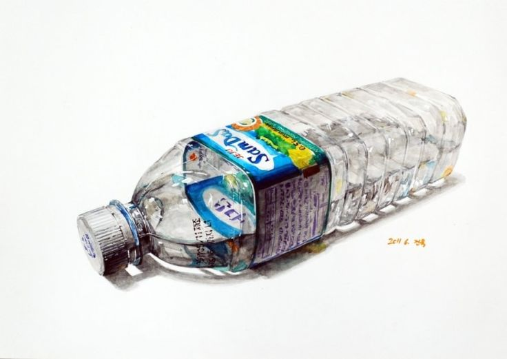 생수병(투명체•물)
