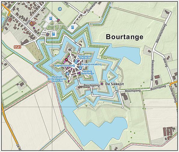 Bourtang / Bourtange - kaart